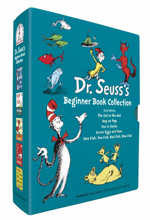 Dr. Seuss's  Beginner Book Collection (The Cat in the Hat; One Fish Two Fish Red Fish Blue Fish; Green Eggs and Ham; Hop on Pop; Fox in Socks) by Dr. Seuss, 9780375851568