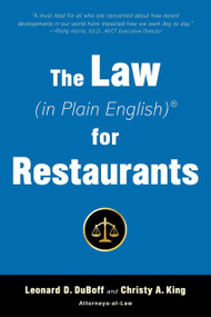 The Law (in Plain English) for Restaurants by Leonard D. DuBoff, Christy King, 9781621537748