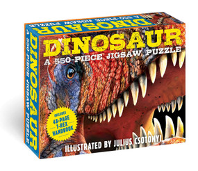 Dinosaurs: 550-Piece Jigsaw Puzzle & Book (A 550-Piece Family Jigsaw Puzzle Featuring the T-Rex Handbook!) by Julius  Csotonyi, 9781646431120