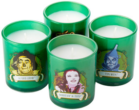 WIZARD OF OZ GLASS VOTIVE CANDLE SET by INSIGHT EDITIONS,, 9781682985243