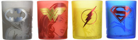 DC COMICS: JUSTICE LEAGUE GLASS VOTIVE CANDLE SET by INSIGHT EDITIONS,, 9781682985250