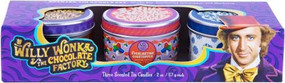 WILLY WONKA AND THE CHOCOLATE FACTORY SCENTED TIN CANDLE SET (SET OF 3) by INSIGHT EDITIONS,, 9781682985366
