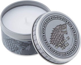 GAME OF THRONES: HOUSE STARK SCENTED CANDLE (2 OZ. - FROSTED PINE) (Miniature Edition) by INSIGHT EDITIONS,, 9781682983102