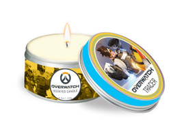 OVERWATCH: TRACER SCENTED CANDLE (5.6 OZ.) (Miniature Edition) by INSIGHT EDITIONS,, 9781682983508