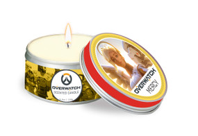 OVERWATCH: MERCY SCENTED CANDLE (5.6 OZ.) (Miniature Edition) by INSIGHT EDITIONS,, 9781682983515