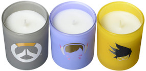 OVERWATCH: GLASS VOTIVE CANDLE SET by INSIGHT EDITIONS,, 9781682984017