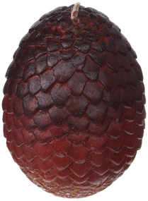 GAME OF THRONES: SCULPTED DRAGON EGG CANDLE [RED] (Miniature Edition) by INSIGHT EDITIONS,, 9781682984093