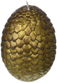 GAME OF THRONES: SCULPTED DRAGON EGG CANDLE (GOLD) (Miniature Edition) by INSIGHT EDITIONS,, 9781682984116