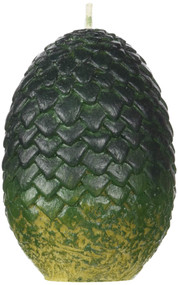 GAME OF THRONES: SCULPTED DRAGON EGG CANDLE (GREEN) (Miniature Edition) by INSIGHT EDITIONS,, 9781682984123