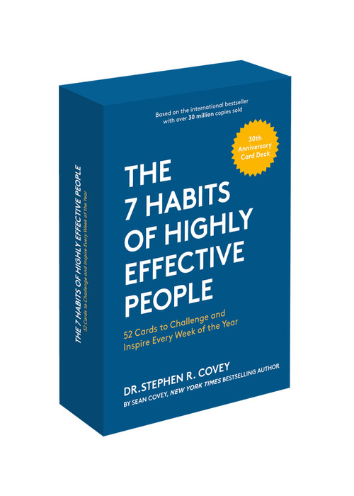 The 7 Habits of Highly Effective People (30th Anniversary Card Deck (The Official 7 Habits Card Deck)) (Miniature Edition) by Stephen R. Covey, 9781642500264