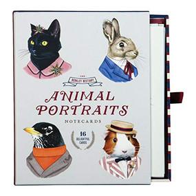 Berkley Bestiary Animal Portrait Greeting Card Assortment by Galison, Berkley Illustration, 9780735350991
