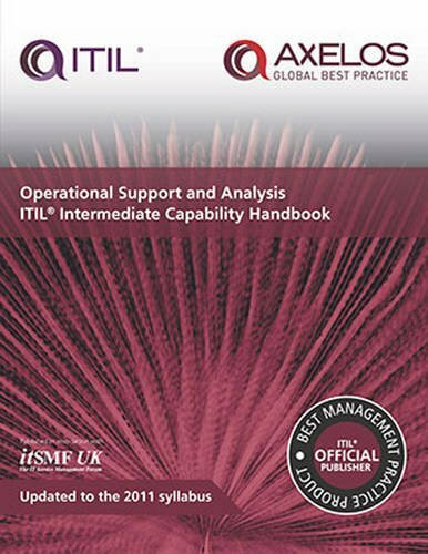 Operational Support and Analysis ITIL Intermediate Capability Handbook (Miniature Edition) by itSMF UK, 9780113314294