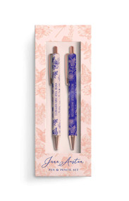 Jane Austen: Floral Pen and Pencil Set (Set of 2) by Insight Editions, 9781647222284
