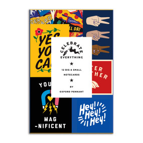 Celebrate Everything Notecard Set by Galison, Oxford Pennant, 9780735363960