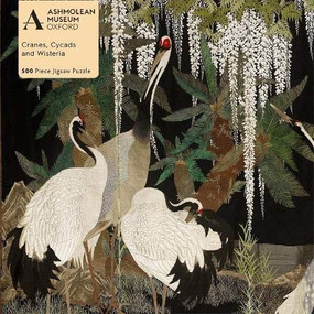 Adult Jigsaw Puzzle Ashmolean: Cranes, Cycads and Wisteria (500 pieces) (500-piece Jigsaw Puzzles) by Flame Tree Studio, 9781839647314