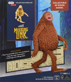 INCREDIBUILDS: LAIKA: MISSING LINK 3D WOOD MODEL by INSIGHT EDITIONS,, 9781682984284