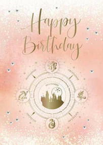 HARRY POTTER: HOGWARTS CONSTELLATION BIRTHDAY EMBELLISHED CARD by INSIGHT EDITIONS,, 9781682986257
