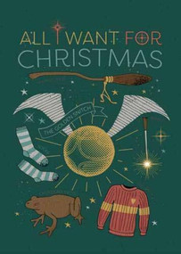 HARRY POTTER: ALL I WANT FOR CHRISTMAS EMBELLISHED CARD by INSIGHT EDITIONS,, 9781682986288