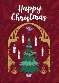 HARRY POTTER: GREAT HALL CHRISTMAS EMBELLISHED CARD [HOLIDAY] by INSIGHT EDITIONS,, 9781682986295