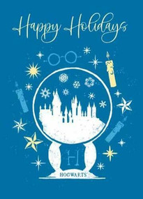 HARRY POTTER: HOGWARTS SNOW GLOBE EMBELLISHED CARD by INSIGHT EDITIONS,, 9781682986325