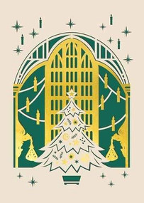 HARRY POTTER: THE GREAT HALL HOLIDAY LASER DIE-CUT CARD by INSIGHT EDITIONS,, 9781682986332