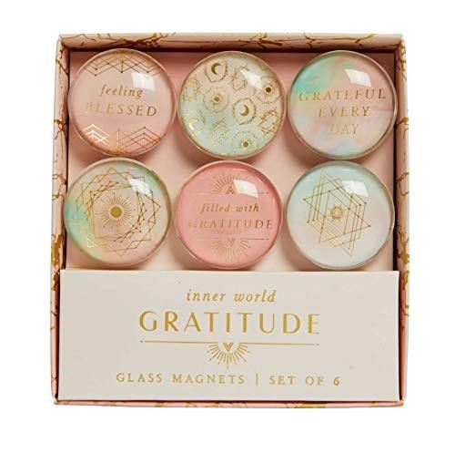 Gratitude: Glass Magnet Set (Set of 6) (Miniature Edition) by Insights, 9781647221874