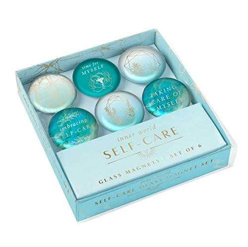 Self-Care: Glass Magnet Set (Set of 6) (Miniature Edition) by Insights, 9781647221881