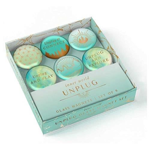 Unplug Glass Magnet Set (Set of 6) (Miniature Edition) by Insight Editions, 9781647222215