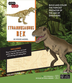 INCREDIBUILDS: TYRANNOSAURUS REX 3D WOOD MODEL by INSIGHT EDITIONS,, 9781682980323