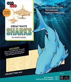INCREDIBUILDS: GREAT WHITE SHARKS 3D WOOD MODEL by INSIGHT EDITIONS,, 9781682980330