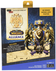 INCREDIBUILDS: WORLD OF WARCRAFT: ALLIANCE 3D WOOD MODEL AND POSTER by INSIGHT EDITIONS,, 9781682980132