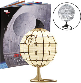 INCREDIBUILDS: STAR WARS: ROGUE ONE: DEATH STAR 3D WOOD MODEL AND BOOK by INSIGHT EDITIONS,, 9781682980989