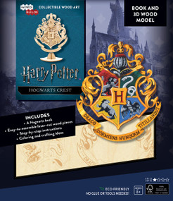 INCREDIBUILDS: HARRY POTTER: HOGWARTS CREST BOOK AND 3D WOOD MODEL by INSIGHT EDITIONS,, 9781682981757