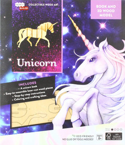 INCREDIBUILDS: UNICORN BOOK AND 3D WOOD MODEL by INSIGHT EDITIONS,, 9781682981832