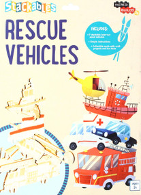 INCREDIBUILDS JR.: STACKABLES: RESCUE VEHICLES by INSIGHT EDITIONS,, 9781682981689