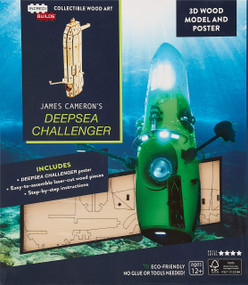 INCREDIBUILDS: JAMES CAMERON'S DEEPSEA CHALLENGER 3D WOOD MODEL AND POSTER by INSIGHT EDITIONS,, 9781682982716