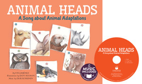 Animal Heads (A Song about Animal Adaptations) by Vita Jiménez, Katy Hudson, 9781632907646