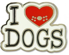 I Love Dogs Hard Enamel Pin by , 9781441325228