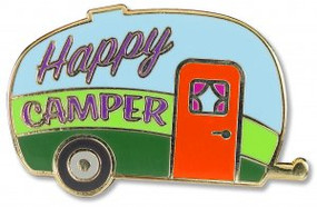 Happy Camper Hard Enamel Pin by , 9781441329608