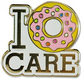 I Donut Care Hard Enamel Pin by , 9781441325204