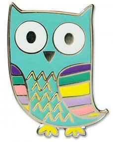Owl Hard Enamel Pin by , 9781441325334