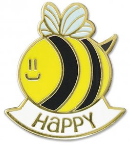 Bee Happy Hard Enamel Pin by , 9781441325006