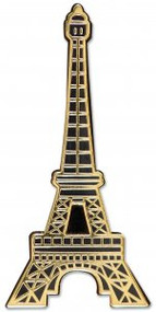 Eiffel Tower Hard Enamel Pin by , 9781441325099