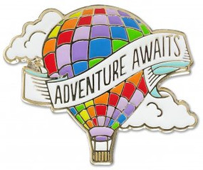 Adventure Awaits Hard Enamel Pin by , 9781441324986
