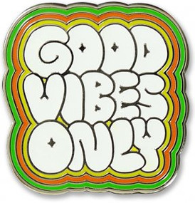 Good Vibes Only Hard Enamel Pin by , 9781441325143