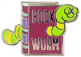 Bookworm Hard Enamel Pin by , 9781441325013
