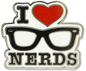 I Love Nerds Hard Enamel Pin by , 9781441325242