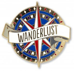 Wanderlust Hard Enamel Pin by , 9781441327475