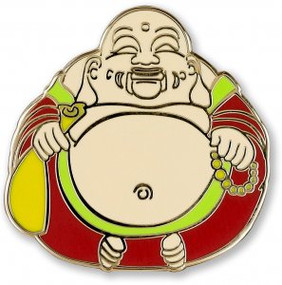 Laughing Buddha Hard Enamel Pin by , 9781441327192