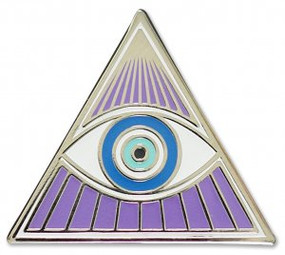 All-Seeing Eye Hard Enamel Pin by , 9781441325112